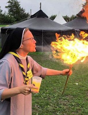 Pfadfinderlager 2019: Feuerspucker