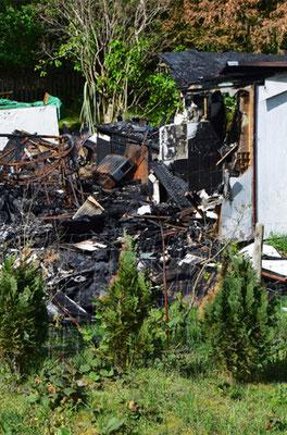 Kleingartenversicherung KVD - Laube Feuerschaden