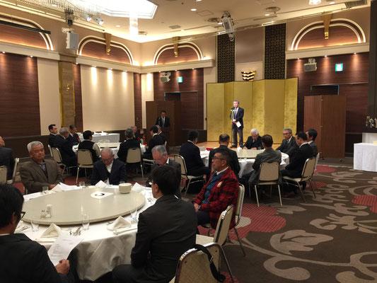 飯島会長による新年のスピーチ