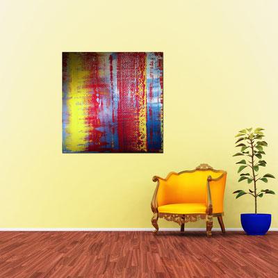 AER - Acrylbild auf Leinwand - 100 x 100 cm - € 550,-