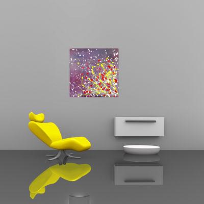 EXPLOSION - Acrylbild auf Leinwand - 70 x 70 cm - € 170,-