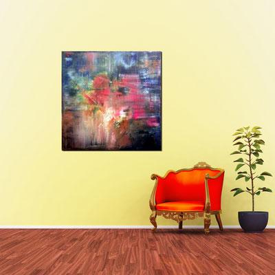 BEZIEHUNG - Acrylbild auf Leinwand - 100 x 100 cm - € 450,-