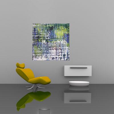 FREUDE - Acrylbild auf Leinwand - 100 x 100 cm - € 550,-