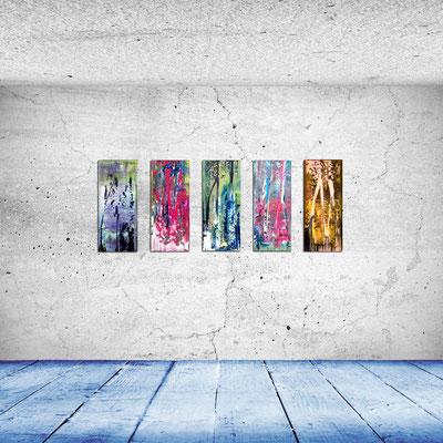 ENERGIE - Acrylbild auf Leinwand - je 30 x 70 cm - zusammen € 350,-