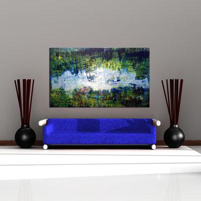 ERZ - Acrylbild auf Leinwand - 200 x 120 cm - € 1.650,-