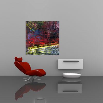 STROMBOLI - Acrylbild auf Leinwand - 100 x 100 cm - € 450,-