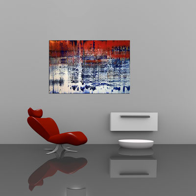 WINTERDÄMMERUNG - Acrylbild auf Leinwand - 120 x 80 cm - € 650,-