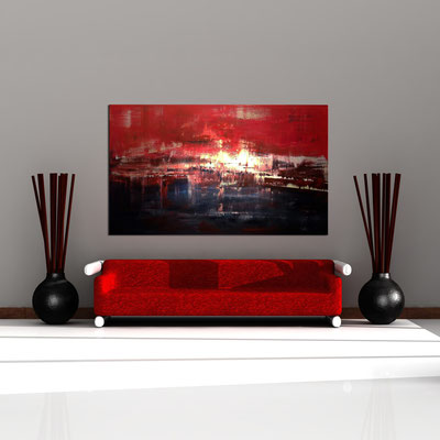 TROPOSPHÄRE - Acrylbild auf Leinwand - 200 x 120 cm - € 1.650,-