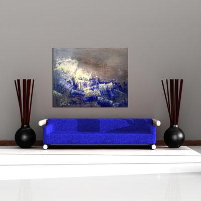 BRANDUNG - Acrylbild auf Leinwand - 150 x 120 cm - € 1.250,-