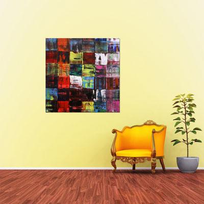 FIESTA - Acrylbild auf Leinwand - 100 x 100 cm - € 550,-