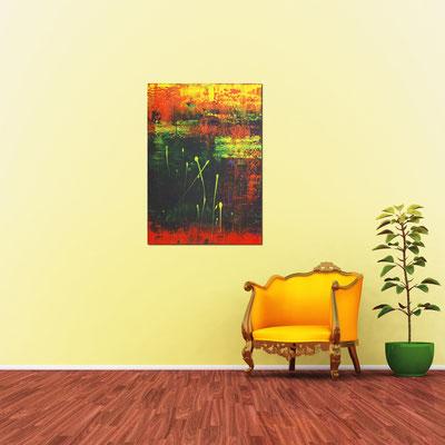 AUFSTIEG - Acrylbild auf Leinwand - 70 x 100 cm - € 470,-