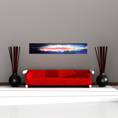 EISMEER - Acrylbild auf Leinwand - 190 x 35 cm - € 470,-