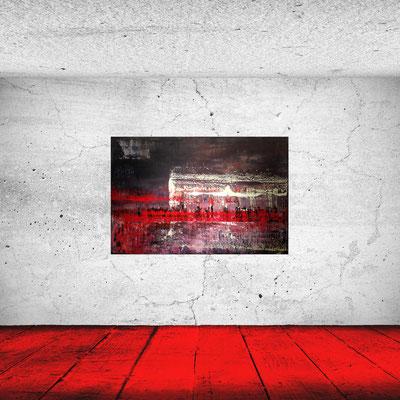 ERUPTION - Acrylbild auf Leinwand - 150 x 100 cm - € 1.100,-