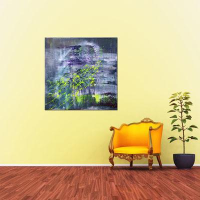 WANDERUNG - Acrylbild auf Leinwand - 100 x 100 cm - € 750,-