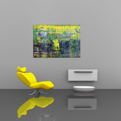 GEDANKENSPIEL - Acrylbild auf Leinwand - 100 x 70 cm - € 500,-