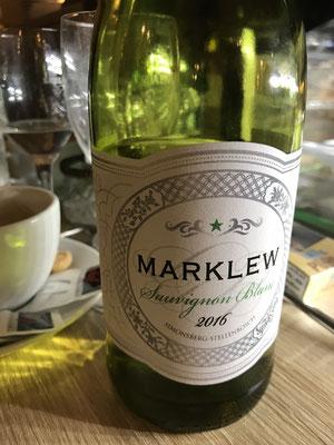 Marklew Sauvignon Blanc. Leider schon ausverkauft. Aber nun gibt es den nächsten Jahrgang 2017