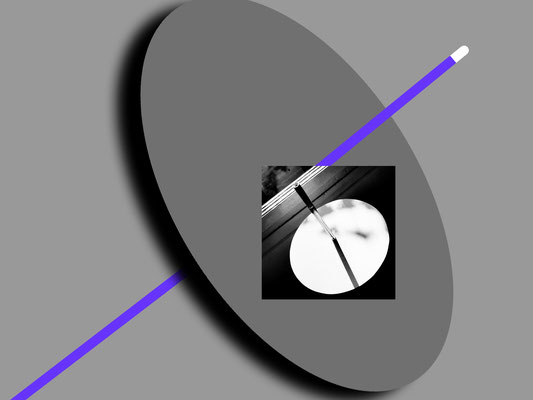 Foto Alu-Print SW, 10x10 cm montiert auf Fotografik Hahnemühle-Print, 30x40 cm
