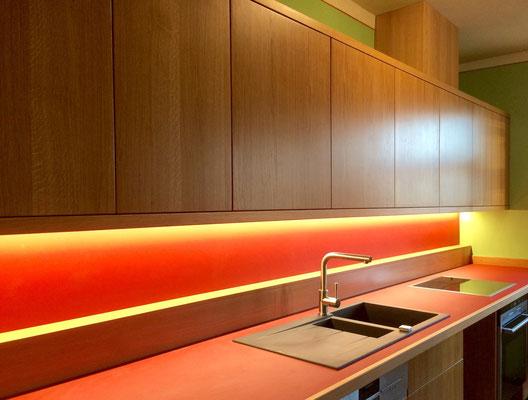 Küche Eiche Linoleum