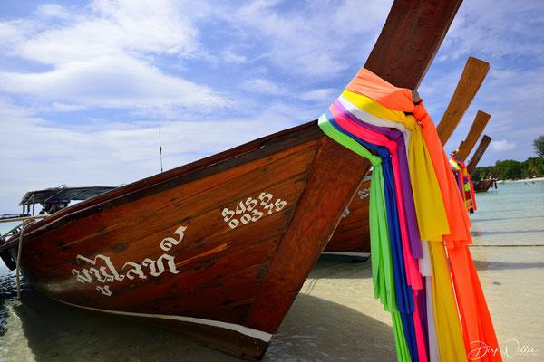 Longtail boat @ Pattaya beach Ko Lipe