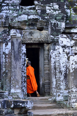 A monk at the Bayon temple