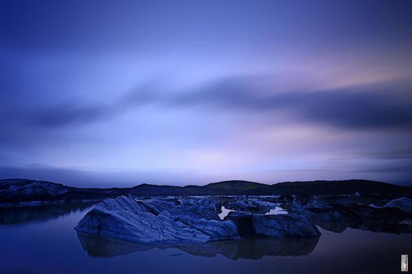 glacier lagoon @ Svinafellsjokull Glacier