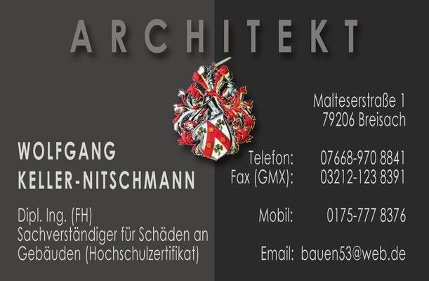 Visitenkarte Architekt
