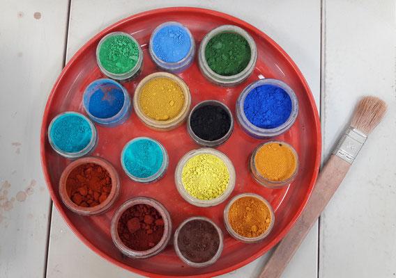 Pigmente von Keimfarben