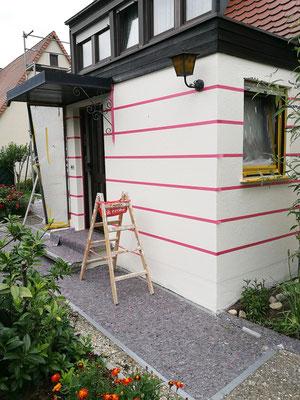 Fassadenarbeiten Eingang