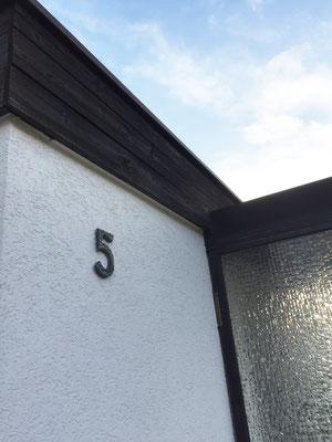 Fassade Hausnummer vorher