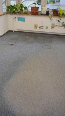 Bodenbelag Büro vorher