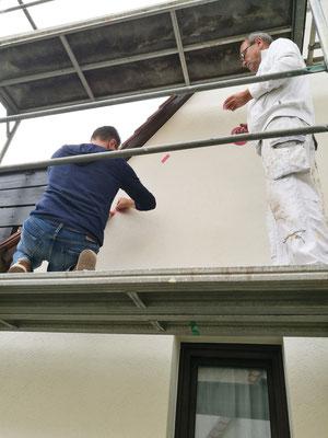Fassadenarbeiten Giebelseite
