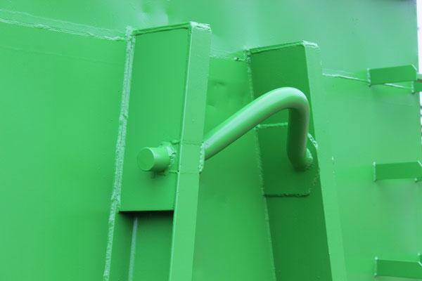 Container nach der farblichen Überarbeitung