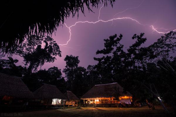 Jungle lightning Cuyabeno Ecuador