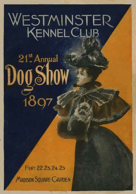 Werbung für die Hundeausstellung 1897