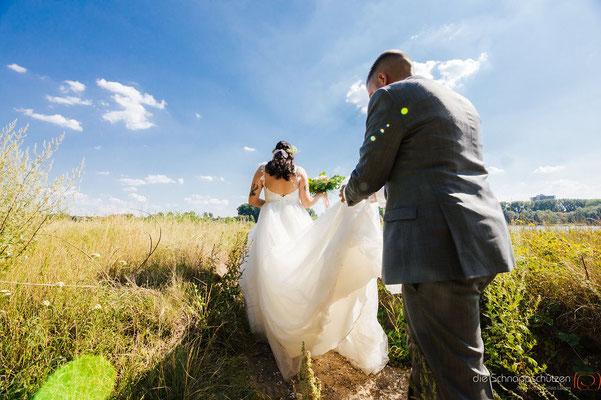 Brautpaarshootin Braut Bräutigam