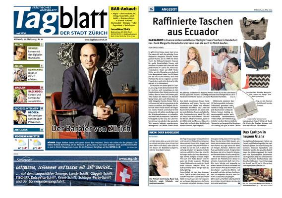 Atelier Avanzar - Tagblatt Zürich Mai 2015