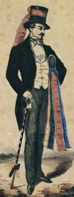 la canne et le ruban du compagnon au XIXe siècle