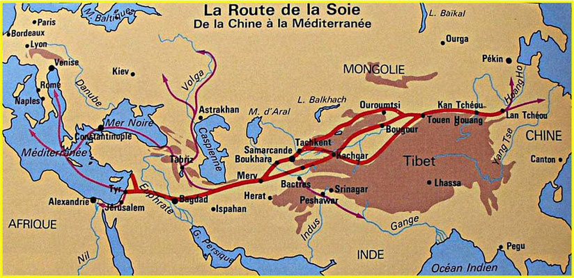 La route de la soie au XVe siècle