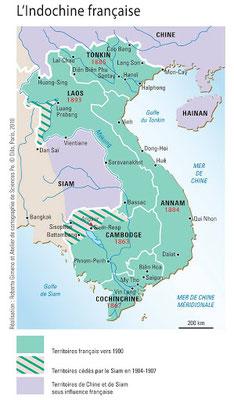 Les territoires français de l'Indochine