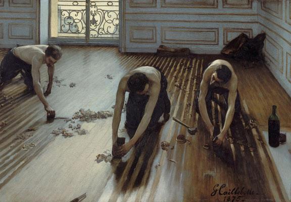 Les raboteurs de parquets, Gustave Caillebotte, 1875