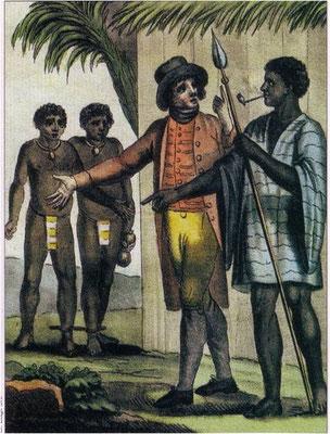Opération de traite en Afrique, Grasset de Saint-Sauveur, gravure, 1796