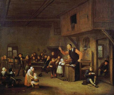 Egbert van Heemskerck, Le maître d'école, 1687