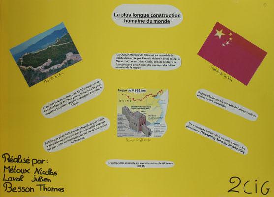1. La muraille de Chine