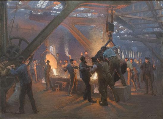 La fonderie de fer, Peter Severin Kroyer, 1885