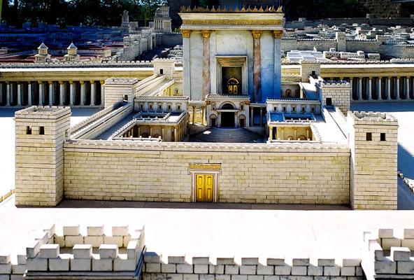 Le temple de Jérusalem reconstruit au premier siècle avant notre ère