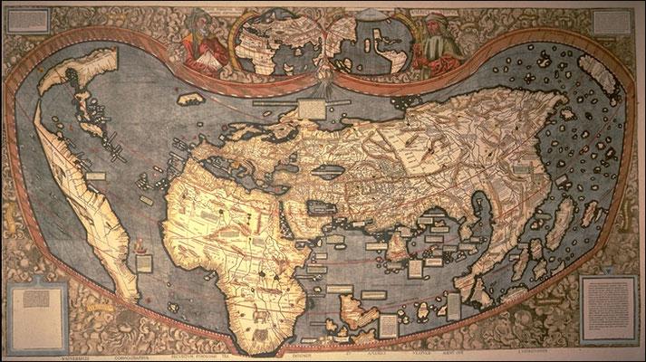 Planisphère de Martin Waldseemüller, 1507, British Library, Londres