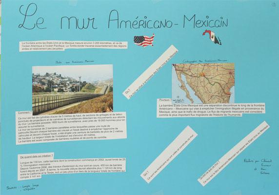 8. Le mur frontière entre les Etats-Unis et le Mexique