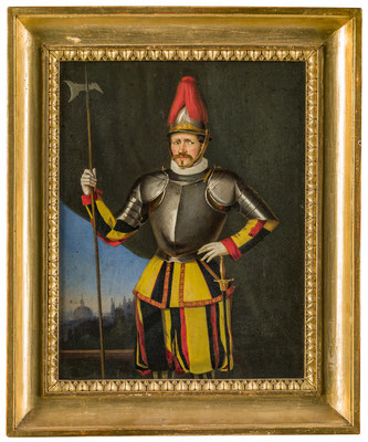 Schweizergardist Alois Durrer. 1853. HMO P 0002