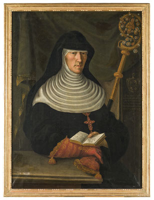 Äbtissin Maria Agnes Nikolaa von Flüe (1762-1839). HMO Ka 0212