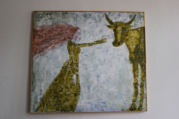 Frau mit Kuh (verkauft)
